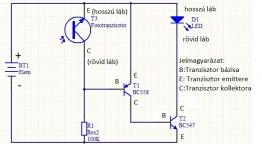 Alkonykapcsolós bójavilágítás elektronikai rajz